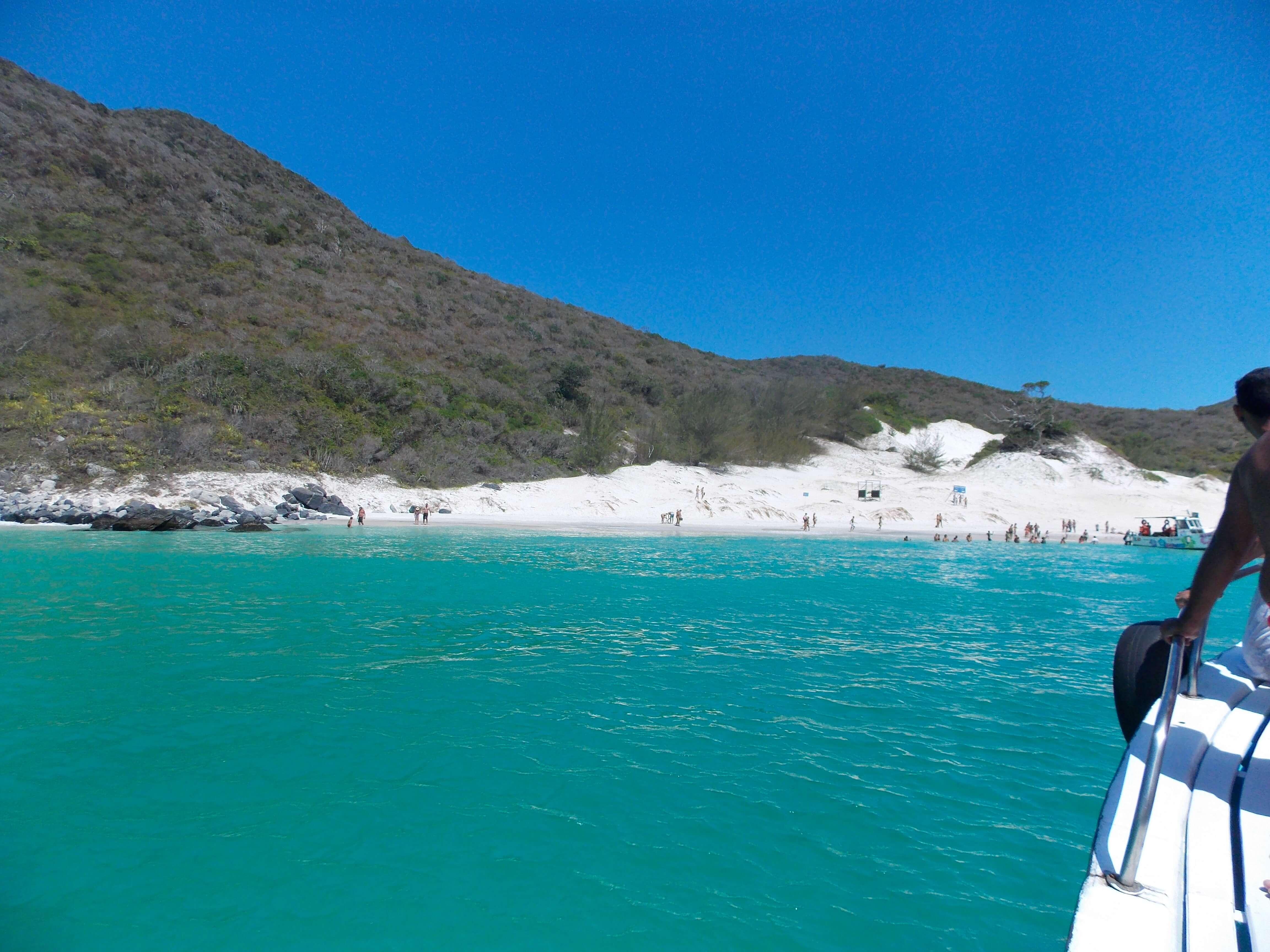 Passeio do barco em Arraial do Cabo