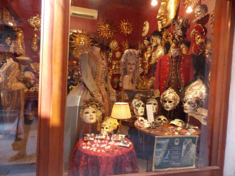 Máscaras em Veneza na Itália