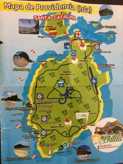 Mapa Providência, Colômbia