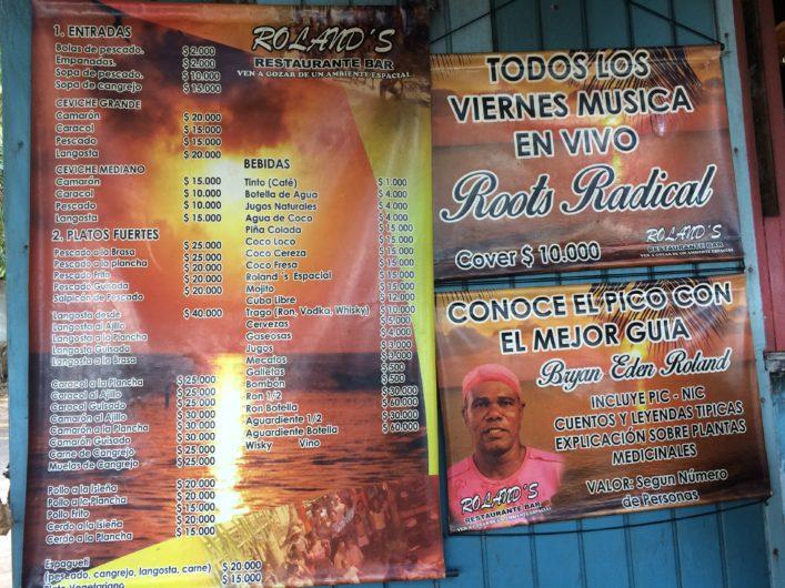 Roland's Bar na Playa de Manzanillo (Manchineel Bay) em Providência