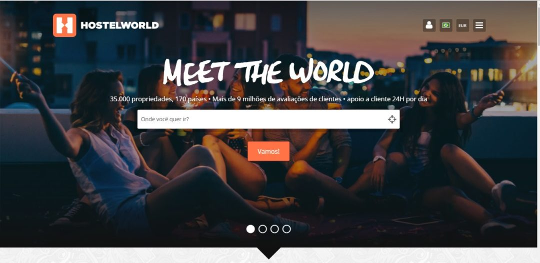 Como reservar hospedagem Hostel World