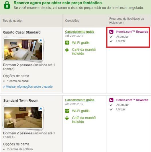Como fazer reservas no hoteis.com