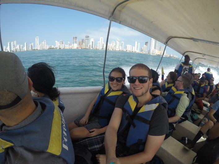 Passeio de barco em Cartagena
