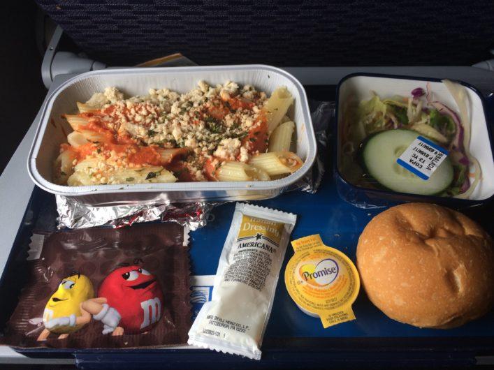 Comida do Voo da Copa Airlines
