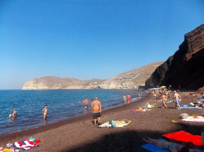 Red Beach Santorini Grécia