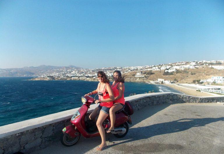 Scooter Mykonos Grécia