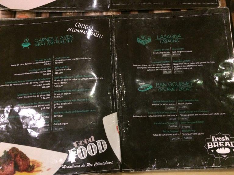 Onde comer em San Andrés cardápio Gourmet Shop Assho