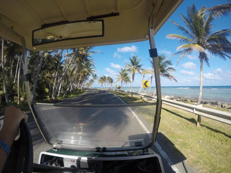 Volta a ilha em San Andrés de carrinho de golfe