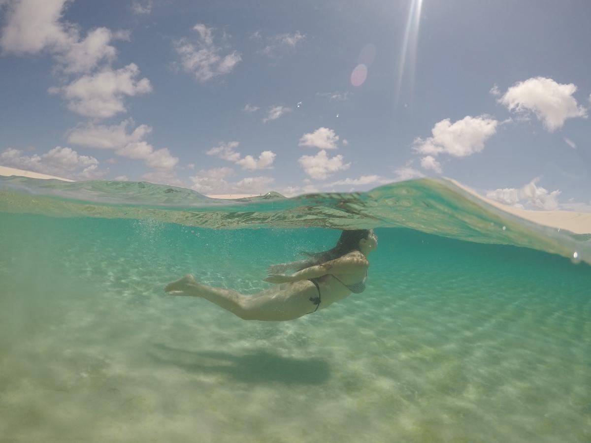 Lagoas de água cristalina nos Lençóis Maranhenses