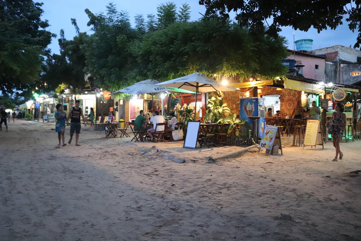 Ruas de areia em Jericoacoara